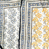 100% hand blockprinted cotton duvet. Lightweight quilt called Jaipur Razai. - Flowers in yellow & black