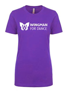Wingman for Dance T Shirt: Ladies Fitted
