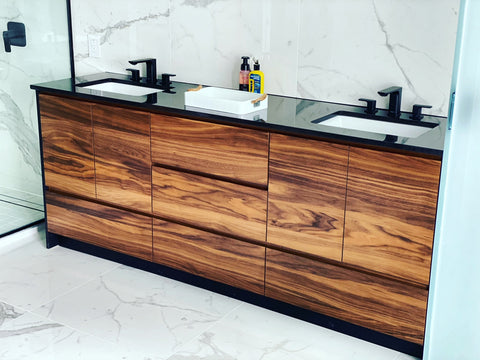 Contemporary Wood Bathroom Vanity by Evos Boutiques