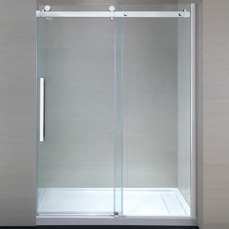 "Senna Chrome Tempered Shower Glass Panel 60"" - OVERSTOCK SPECIAL"