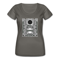 2019 Total Eclipse in Chile Women's Scoop Neck T-Shirt - charcoal