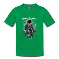 Space Travel Astronaut Kids' Premium T-Shirt - kelly green