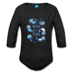 Organic Long Sleeve Baby Bodysuit Reach for the Stars - black