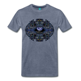Apollo Instrument Panel Abstract Premium T-Shirt - heather blue