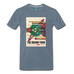 Visions of the Future: The Grand Tour Premium T-Shirt - steel blue