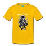 Space Travel Astronaut Kids' Premium T-Shirt - sun yellow
