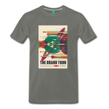 Visions of the Future: The Grand Tour Premium T-Shirt - asphalt gray