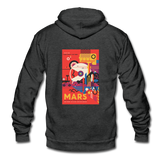 """Visit the Historic Sites - MARS"" Unisex Fleece Zip Hoodie - charcoal gray"