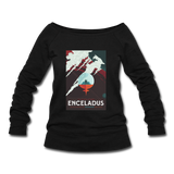 """Enceladus' Icy Jets"" Women's Wideneck Sweatshirt - black"
