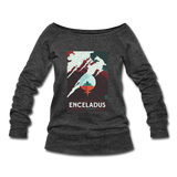 """Enceladus' Icy Jets"" Women's Wideneck Sweatshirt - heather black"