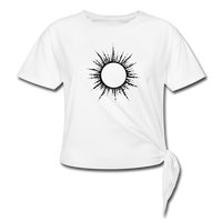 Women's Ring of Fire Knotted T-Shirt - white