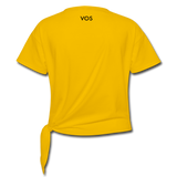 Women's Ring of Fire Knotted T-Shirt - sun yellow