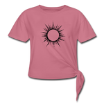 Women's Ring of Fire Knotted T-Shirt - mauve