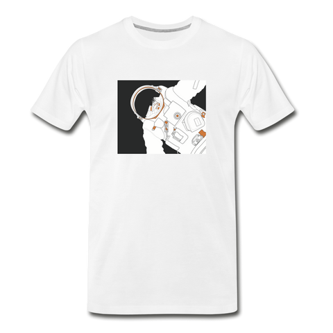 Spacewalk Orange Organic T-Shirt - white