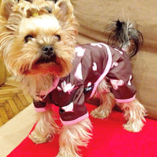 Puppy Angel Sprinkle Heart Raincoat Overall PA-CT043