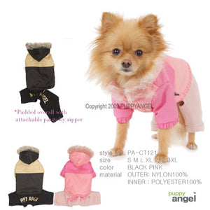 Puppy Angel pink padded overall PA-CT121