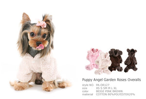 Puppy Angel Garden Roses Overall PA-OR127