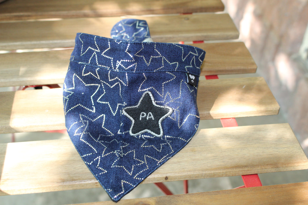 Puppy Angel Denim Big Star Bandana Scarf PA-AC126