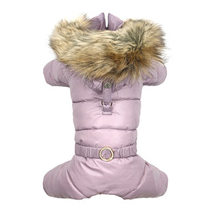 Puppy Angel Love Faux Down Padding Trimmed Hood Overalls For Girls (All cover, only for gilrs) PA-OW314