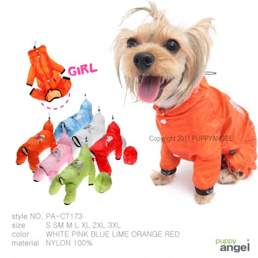 Puppy Angel Transparent Raincoat PA-CT173 for Girls