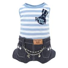 Puppy Angel Stripes and Jeans Overall PA-OR155