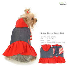 Puppy Angel Stripe Sleeve Denim Dress PAM-OP020
