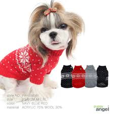 Puppy Angel Snowflake Rhinestone Sweater PA-SW041