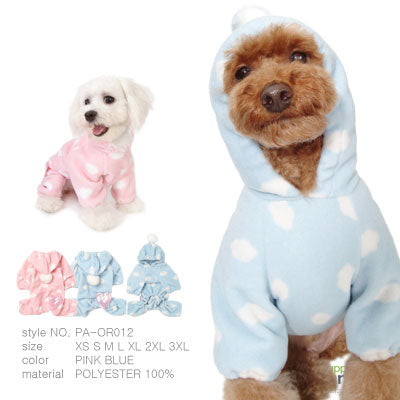 Puppy Angel polkadot warm overall PA-OR012