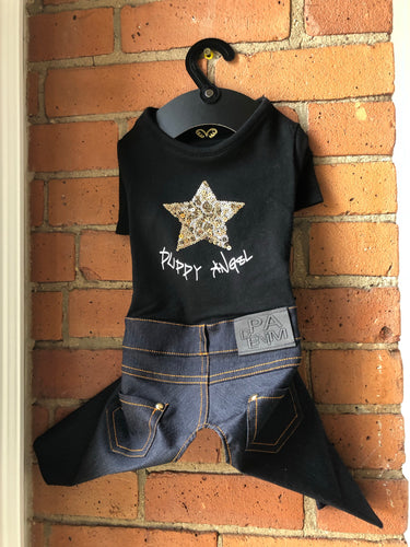 Puppy Angel Star Jeans Overall PA-OR170