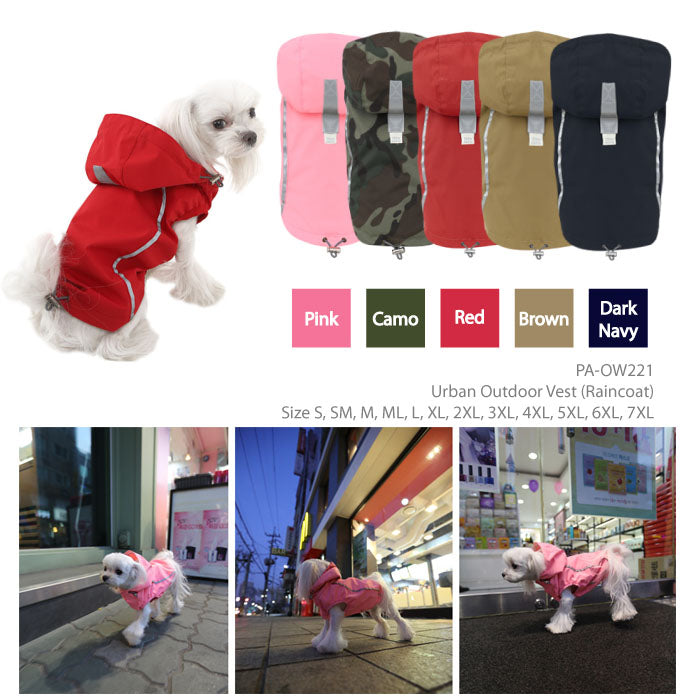 Puppy Angel BIONNE2 Urban Outdoor Vest Raincoat PA-OW221