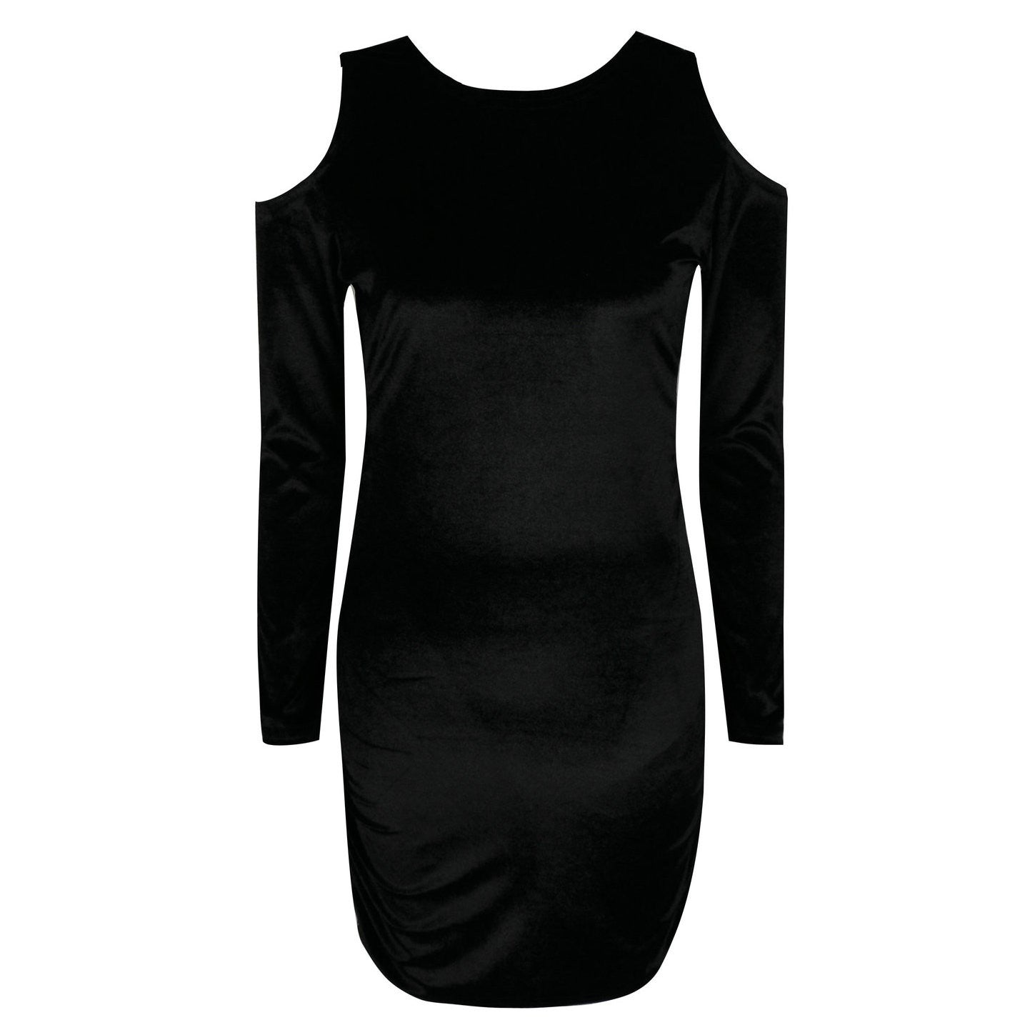 Women Shoulderless Dress with Sleeves Sexy Backless Dress