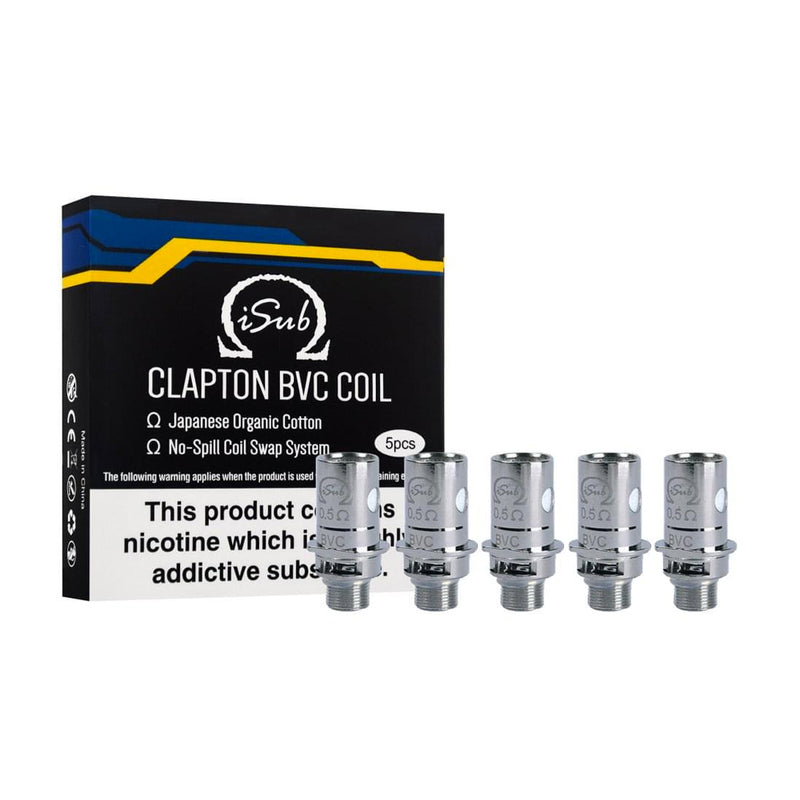 Innokin iSub Clapton BVC Coils 0.5 Ohm Replacement Coil Heads (5 Pack)