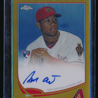 ALFREDO MARTE 2013 TOPPS CHROME RC AUTO GOLD REFRACTOR 04/50 ARIZONA DIAMONDBACK