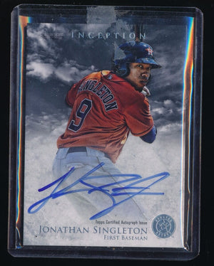 JONATHAN SINGLETON 2013 BOWMAN INCEPTION PROSPECT AUTOGRAPH AUTO *HOUSTON ASTROS