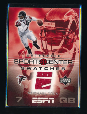 MICHAEL VICK 2005 UPPER DECK ESPN SPORTS CENTER SWATCH #MV *ATLANTA FALCONS*