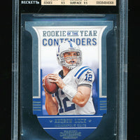 BGS 9.5 ANDREW LUCK 2012 PANINI CONTENDERS ROOKIE OF THE YEAR INSERT RC GEM MINT