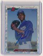 YADIER ALVAREZ 2017 BOWMAN HIGH TEK '92 BOWMAN RC AUTO 34/35 LOS ANGELES DODGERS