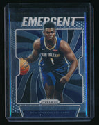 ZION WILLIAMSON 2019-20 PANINI PRIZM EMERGENT #7 RC *NEW ORLEANS PELICANS* (B)