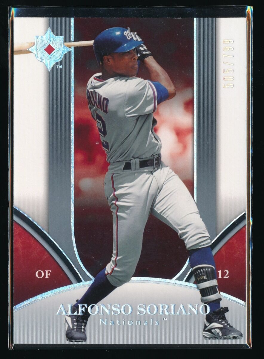 ALFONSO SORIANO 2006 ULTIMATE COLLECTION 505/799 WASHINGTON NATIONALS