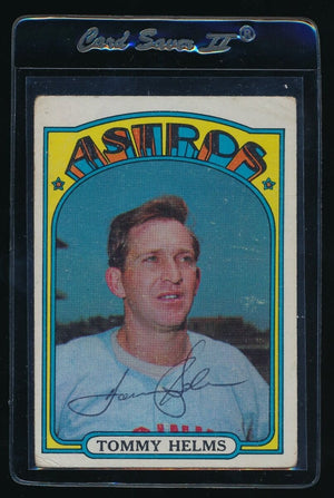 SIGNED TOMMY HELMS 1972 TOPPS #204 AUTO AUTOGRAPH HOUSTON ASTROS