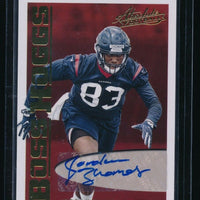 JORDAN THOMAS 2018 ABSOLUTE BOSS HOGGS AUTOGRAPH RC AUTO *HOUSTON TEXANS*