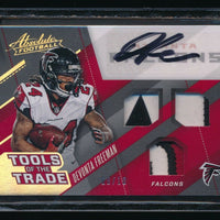 DEVONTA FREEMAN 2017 ABSOLUTE TOOLS OF THE TRADE TRIPLE PATCH AUTO 08/10 FALCONS