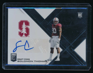 SOLOMON THOMAS 2017 ELITE DRAFT PICKS DRAFT PICKS AUTOGRAPH RC AUTO *49ERS*