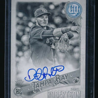 DANIEL ROBERTSON 2018 TOPPS GYPSY QUEEN AUTOGRAPH BLACK AND WHITE AUTO 02/50