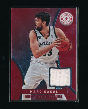MARC GASOL 2012-13 TOTALLY CERTIFIED RED JERSEY *MEMPHIS GRIZZLIES*