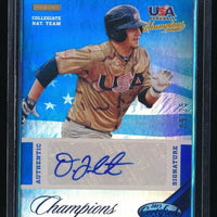 D.J. PETERSON 2013 USA BASEBALL CHAMPIONS CERTIFIED MIRROR BLUE AUTO 09/25