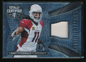 LARRY FITZGERALD 2014 TOTALLY CERTIFIED CERTIFIED FABRICS JERSEY *CARDINALS*