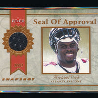MICHAEL VICK 2003 FLEER SNAPSHOT SEAL OF APPROVAL JERSEY BRONZE 006/375 FALCONS