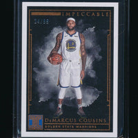 DEMARCUS COUSINS 2018-19 PANINI IMPECCABLE #47 24/99 *GOLDEN STATE WARRIORS*