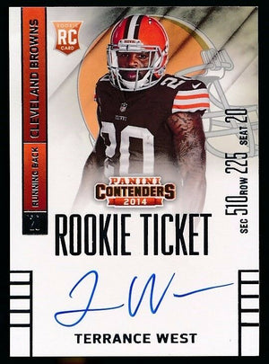 TERRANCE WEST 2014 PANINI CONTENDERS ROOKIE TICKET AUTOGRAPH RC #230 *BROWNS*